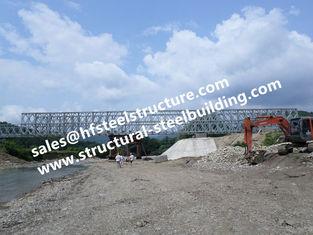 China Vorfabrizierte Stahl-Bailey-Brücken-modulare entworfene, vorübergehende Notbaustahl-Brücke galvanisiert fournisseur
