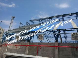 China Fabrizierte industrielle Stahlgebäudestruktur-Treppe, die für Baustahl-Lager-Bauvorhaben überdacht fournisseur