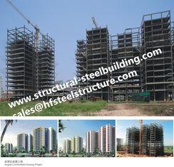 China Wohnungen fabrizierten multi Geschoss-Stahlrahmen-Gebäude, Wolkenkratzer-hoher Aufstiegs-Stahlfertiggebäude fournisseur