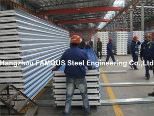 China Gewölbte Stahldeckungs-Blech-Deckung bedeckt Sandwich-Platte ENV PU-Steinwolle fournisseur