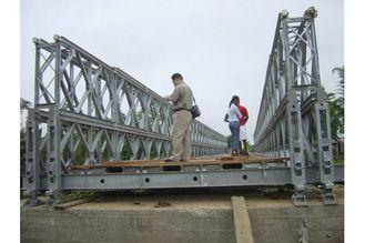 China Kundengebundene Bauholz-Plattform-Stabilitäts-Stahl-Bailey-Brücke/tragbare Stahlbrücke CB100, CB200 fournisseur