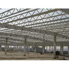 China Q345 Klammer-Metallbinder-Gebäude der Stahlkonstruktions-/V mit geschweißtem/warm gewalztem H-Strahl fournisseur