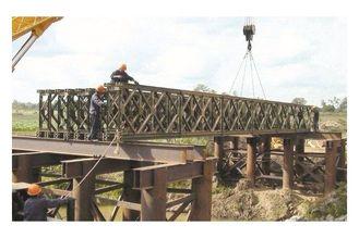 China Morden galvanisierte,/schweißende Baustahl-Bailey-Brücke mit Schwermetallunterstützung fournisseur