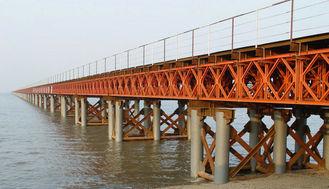 China Soem/kundenspezifisches Schweißens-modulare Stahlbrücke/Vertrag fabrizierten Bailey-Brücke vor fournisseur