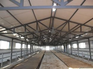 China Dauerhafte vorfabrizierte Stahlgestaltungskuh-/Pferdesysteme mit flexibler hoher Raum-Nutzung fournisseur