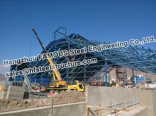 China Baustahl-Herstellungs-Rohr-Binder-Struktur der Bergwerk-Industrie-PEB fournisseur