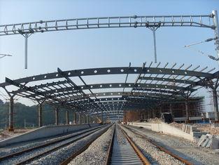 China Bahnhofs-strukturelles Metallbinder-Gebäude, rostfreie Malerei mit 2-4 Schichten fournisseur