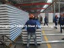 China Gewölbte Stahldeckungs-Blech-Deckung bedeckt Sandwich-Platte ENV PU-Steinwolle usine