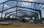 China Einzelne Spanne Vor-Technik errichtende vorfabrizierte helle Stahlkonstruktion usine