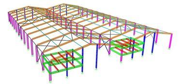 Normale/spezielle Struktur-Art der Portalstahlrahmen-strukturellen konstruktiven Gestaltungen,