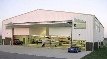 Kundengebundene vorfabrizierte Stahlflugzeug-Hangars mit Arbeitseinsparung