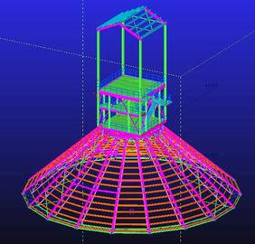 Kundenspezifisches heißes Bad galvanisiert, wasserdichte, vorfabrizierte strukturelle Stahlkonstruktive Gestaltungen