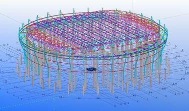 Kundenspezifische strukturelle Stahlkonstruktive Gestaltungen für Fabriken, Lager und Ausstellungsraum