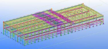 Vor-ausgeführte vorfabrizierte kommerzielle strukturelle Stahlkonstruktive Gestaltungen